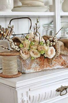 rusty repurposed vase