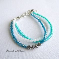 Sea Shades Bracelet by Bluebirdsanddaisies on Etsy
