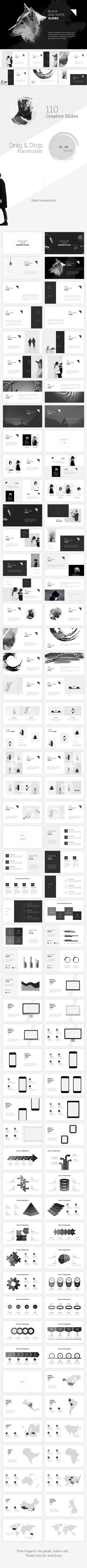 Black and White Powerpoint Template - Creative #PowerPoint Templates Download here:   https://graphicriver.net/item/black-and-white-powerpoint-template/20006597?ref=alena994