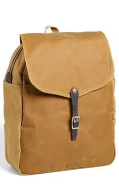 Men's Filson Twill & Tin Cloth Backpack - Brown