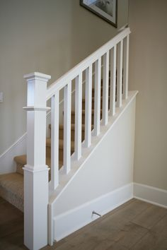 STYLISH PAINT GRADE STAIR SYSTEM - Each residence includes a paint grade stair system featuring a beautiful square newel post design paired with large scale ... & Simple Newel Post Design with Square Balusters | Home | Pinterest ... Aboutintivar.Com