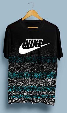 Camisas Boys T Shirts, Sports Shirts, Cool Shirts, Tee Shirts, Camisa Nike, Nike T-shirt, Shirt Printer, Denim Jacket Men, Nike Outfits