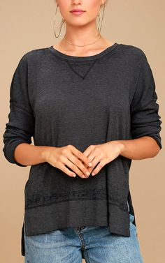 This long sleeve top is so pretty! The Emerson Washed Black Long Sleeve Top is the type of top every single girl should have in their closet ready to go. This will make you look and feel beautiful while also keeping your very warm and cozy. The washed out black color is basically a very cute …