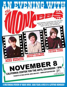 Hey Hey We're The Monkees!  November 8 at California Center For the Arts Escondido