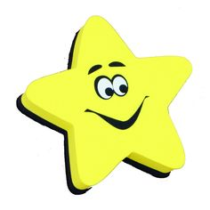 MAGNETIC WHITEBOARD ERASER STAR