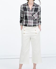 ZARA - NEW THIS WEEK - CHECKED SHIRT WITH POCKET