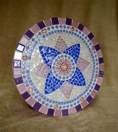 Mandala Rósea em mosaico | Coral Mosaicos | Elo7