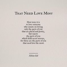 "6,894 Likes, 97 Comments - Nikita Gill (@nikita_gill) on Instagram: ""Make sure you have someone who loves all of you, darlings. It took me years to learn this. #poem…"""