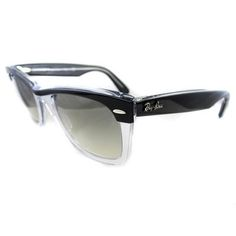 Ray Ban Wayfarer II 2143 Sunglasses 2143 919/32 Black Clear