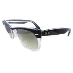 Ray Ban Wayfarer II 2143 Sunglasses 2143 919/32 Black Clear
