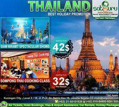 Satguru Indonesia - Travel Management Company, 1 : Hello travelers, mari bergabung bersama kami dalam liburan wisata di Thailand dengan mengunjungi beberapa lokasi wisata menarik menuju Siam Niramit Spectacular Shows, dan mengikuti Sompong Thai Cooking Class Package dengan harga terjangkau dan nyaman. Ikuti kesempatan terbatas ini. 👉Hubungi kami dan pesan sekarang juga! *harga sewaktu-waktu bisa berubah. -------------------------- 💳Dapatkan diskon dan promo khusus lainnya di bulan ini…