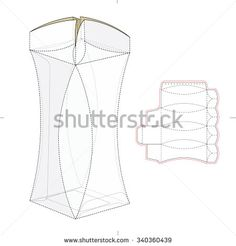 Round Edge Box With Die Cut Template Stock Vector Illustration 340360439 : Shutterstock
