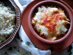 Tavuk Tava (Chicken) with Cheese SO dang good on chilly nights; very grateful hubby has perfected these recipes!