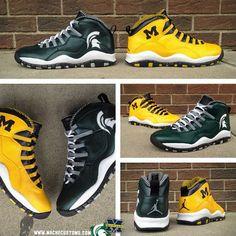 "Air Jordan 10 ""A State Divided"" Customs by @MACHE275"