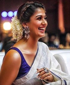 Nayanthara Latest Hot HD Photos/Wallpapers – My World Nayanthara Hairstyle, Saree Hairstyles, Bride Hairstyles, Woman Hairstyles, Bun Hairstyle, Saree Blouse Patterns, Saree Blouse Designs, Kajal Agarwal Saree, Saree Trends