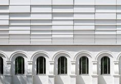 Light and dark rythm in facade. Concert hall in Köthen, Germany. Arch: Busmann+Haberer. Facade material: EQUITONE. #architecture #material #facade www.equitone.com