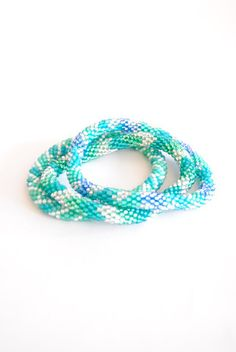 Blue and Green Lily and Laura bracelets