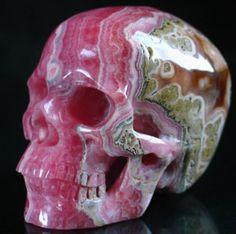 argintinean rhodochrosite crystal skull