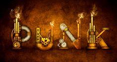 steampunk letters