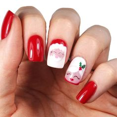 30 Easy And Beautiful Nail Art Designs 2018 Just For You Santa Nails, Xmas Nails, Holiday Nails, Christmas Nails, Merry Christmas, Long Nail Art, Fall Nail Art, Christmas Nail Art Designs, Fall Nail Designs