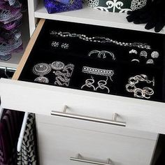Closet with Velvet Lined Jewelry Drawer