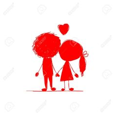 Couple in love together, valentine sketch for your design. Couple Sketch, Couples In Love, Your Design, Graphics, Graphic Design, Illustration, Movie Posters, Art, Art Background