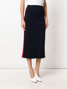 Stella McCartney stripe panel pencil skirt