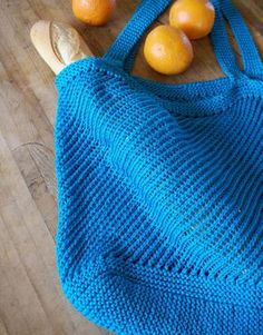 Market Bag . Free pattern here: http://www.classiceliteyarns.com/pdf/ProvenceDiagonalBag.pdf. ☀CQ #crochet #crafts #DIY.