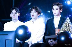 SBS Gayo Daejun 151227 : Chen, Baekhyun, and Chanyeol