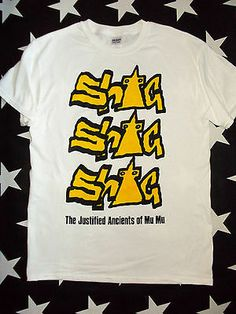 KLF Justified Ancients Of Mu Mu shag shag shag t-shirt Rave PUNK rock Hip af41903ca11