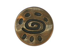 3 Spiral Glyph 11/16 inch  18 mm  Metal Buttons by ButtonJones, $3.00
