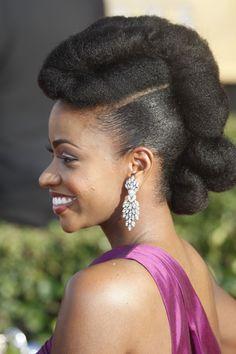 Natural Hair: Goddess Updo
