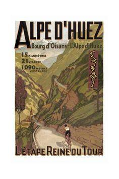 Alpe Du Huez Giclée-Druck bei AllPosters.de