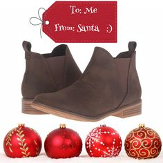 Santa Baby - put a present under the tree....for me! Rocket Dog Maylon brown booties are back in!