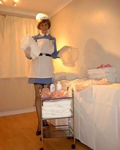 """oldnslow: """" freelyelegantgiver: """" thenappylover: """" Nurse Jenny insists you get pinned into these nappies! Me first 😛 """" I would do whatever Nurse Jenny tells me to do. Nylons, Blouse Nylon, Pvc Hose, Plastic Babies, Plastic Pants, Terry Towel, Baby Pants, Clothes Line, Cloth Diapers"""