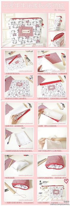39 Ideas For Sewing Ideas Easy Zipper Pouch Sewing Patterns Free, Sewing Tutorials, Sewing Hacks, Sewing Ideas, Tutorial Sewing, Sewing Toys, Sewing Crafts, Sewing Projects, Fix A Zipper