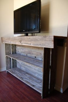 Raw Wood Console Table Large Media TV Table by TRUECONNECTION, $399.00