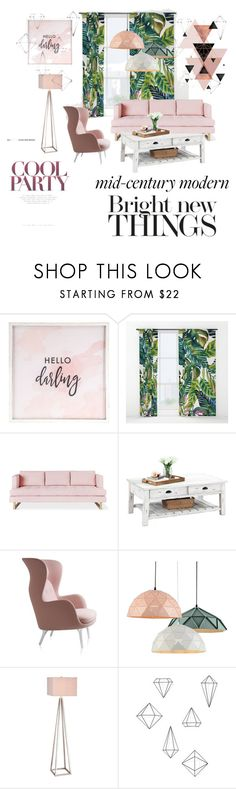 """""""Clean Mid-century Modern"""" by cadisraizel ❤ liked on Polyvore featuring interior, interiors, interior design, home, home decor, interior decorating, Hello Darling, Gus* Modern, JAlexander and Umbra"""
