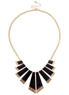 Tailfeather Stone Strand Black Necklace ($16.99)#ShopPD #SummerEssentials