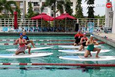 #Repost @marialejandra_murillo  #Sábado divertido en @powerclubpanama  #PanamáPacifico clase Yoga  #YoEntrenoEnPowerClub  #yoga #paddle #girlpower #happymariale #supyoga