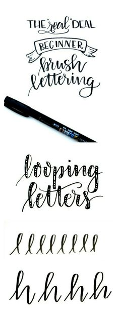 Looping letters
