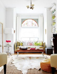 White Victorian home with pops of colour via Style at Home. Photography by Virginia Macdonald. Styling by Anne Marie Favot.