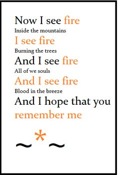I see fire by Ed Sheeran awesome awesome song (from Desolation of Smaug) loved it before i even found out he sung it! but that makes it better that it's from Ed Sheeran :-) Music Love, Music Is Life, My Music, Tolkien, Best Songs, Love Songs, I See Fire, Sing To Me, Ed Sheeran