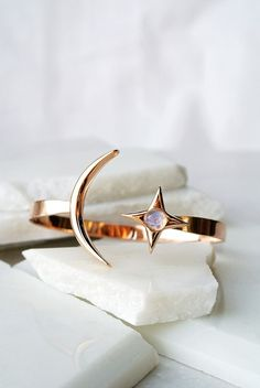 Rope the Moon Cuff | Rose Gold