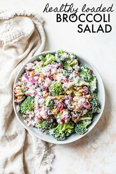 The Rise Of Private Label Brands In The Retail Meals Current Market This Simple 10 Minute Healthy Broccoli Salad Is So Easy To Whip Together For Your Summer Barbecue Or Potluck And Is Loaded With Flavor Healthy Broccoli Salad, Healthy Salads, Healthy Eating, Healthy Recipes, Paleo Meals, Broccoli Recipes, Healthy Potluck, Healthier Desserts, Spinach Salad