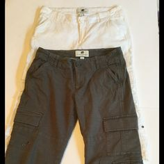 2 pair bundle - Banana Republic Capri Pants 2 pairs for less than the price of one!  These are my absolute favorite capri / cargo pants ever.  Super cute on.  Size 4 Banana Republic Factory Store pants.  Length approx 27 inches, inseam 19.5 inches. Banana Republic Pants Capris