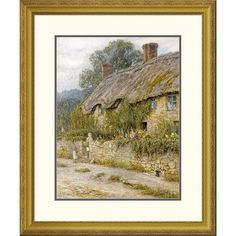 Global Gallery 'Cottage Near Wells, Somerset' by Helen Allingham Framed Painting Print Size:
