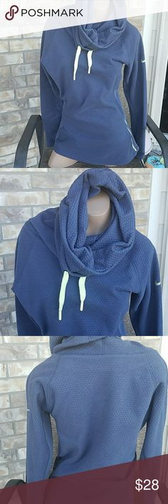 Nike Pullover This Nike Pullover is in good used condition...  Worn once and then stored...  No holes, loose threads, loose threads, stains or snags ....  Side Zipper is in working condition...  Smoke & Pet free home! No Trades please... Nike Tops Sweatshirts & Hoodies