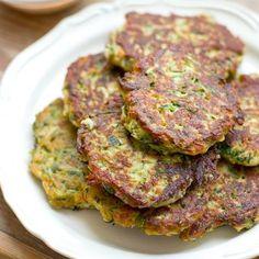 Zucchini & Halloumi Fritters