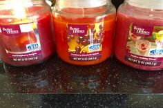 Better Homes & Gardens Candle Scents I like